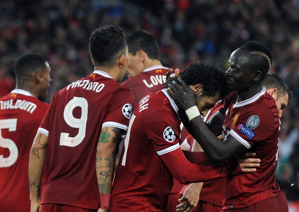 Liverpool - radość piłkarzy po golu