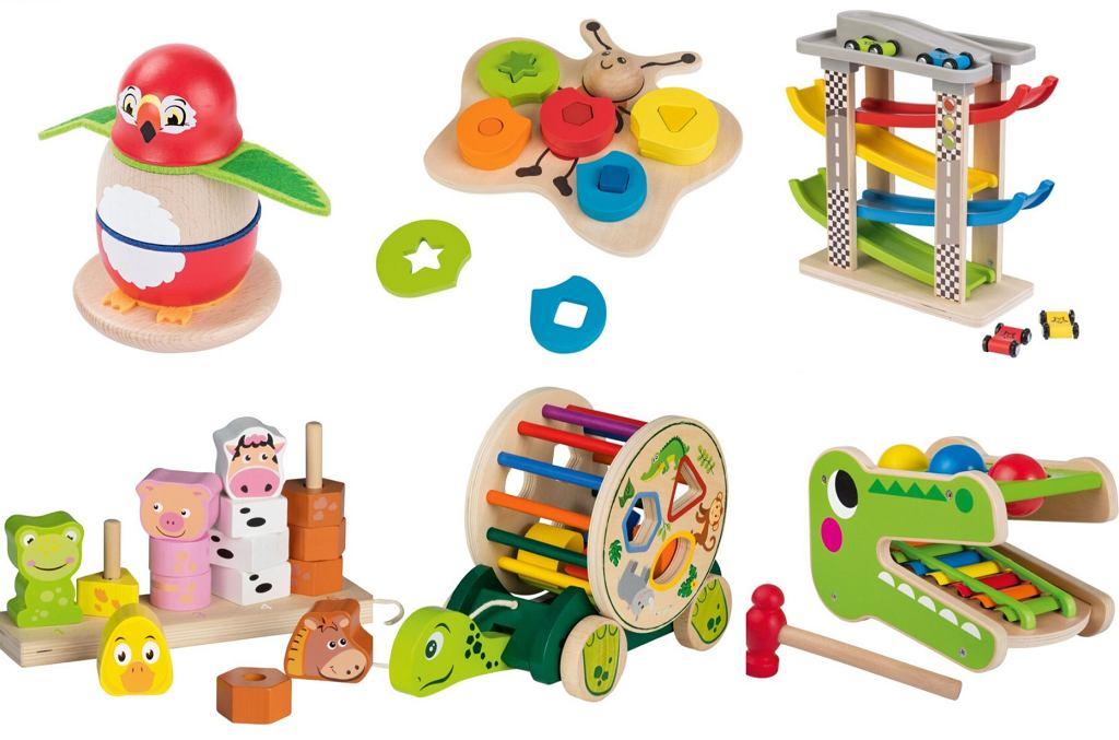 Lidl. Promocja na zabawki drewniane. W atrakcyjne cenie  można dostać układanki dla najmłodszych
