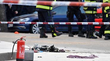 Mężczyzna podpalił się na placu Wacława