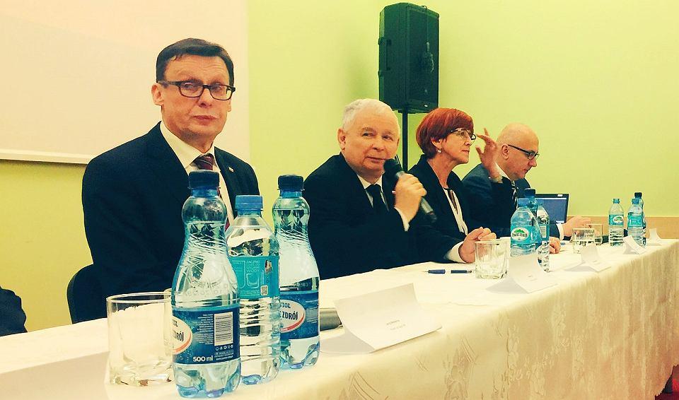 Jarosław Kaczyński podczas sobotniego spotkania w Gorzowie