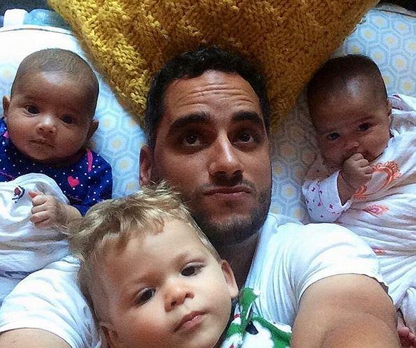 José Rolón z dziećmi