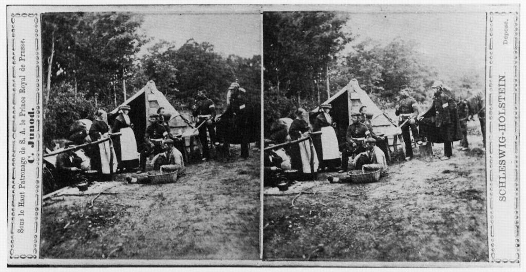 Pruskie markietanki podczas wojny austriacko-prusko-duńskiej 1864 roku / Fot. Junod Charles/Wikimedia Commons/domena publiczna