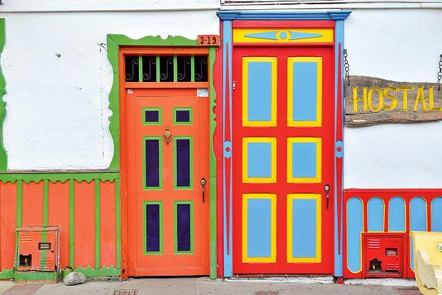 Kolorowe domy w Salento, Kolumbia