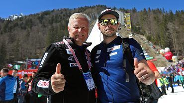 Apoloniusz Tajner (z lewej) i trener kadry Michal Dolezal