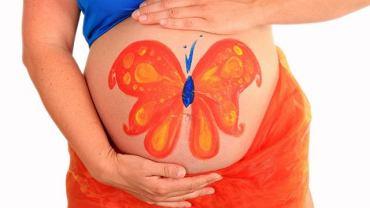 malowany brzuch