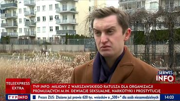 Sebastian Kaleta na konferencji prasowej