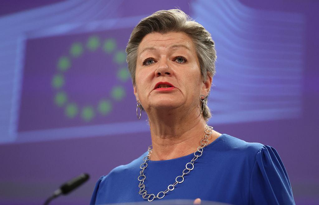 Ylva Johansson, unijna komisarz odpowiedzialna za sprawy wewnętrzne