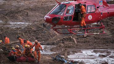 28.01.2019, Brumadinho w stanie Minas Gerais, akcja wydobycia ciał po największej katastrofie górniczej w nowożytnych dziejach Brazylii.