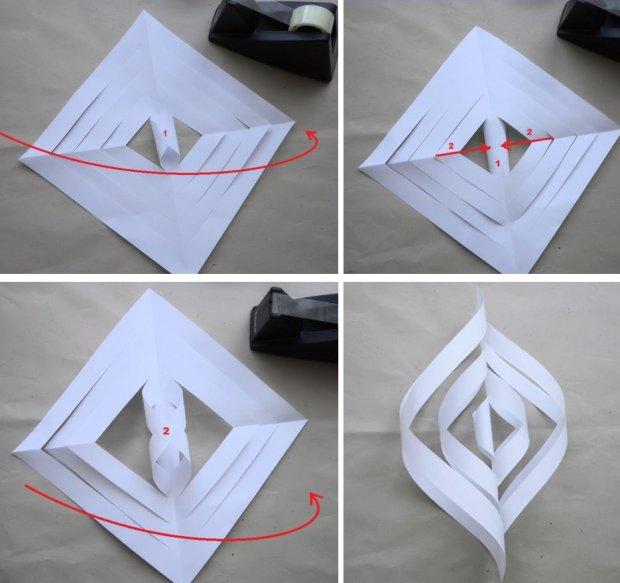 Gwiazda betlejemska z papieru 3D, ozdoba świąteczna, dekoracja domu, Boże Narodzenie, święta