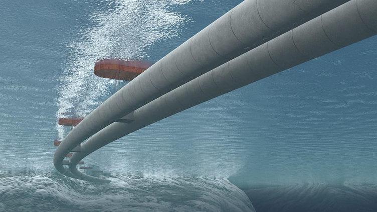 Projekt budowy podwodnego pływającego tunelu w Norwegii