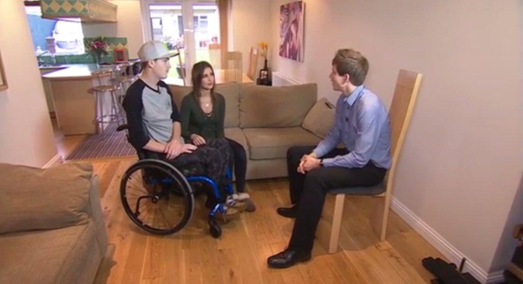 Darcy Ward podczas wywiadu dla BBC