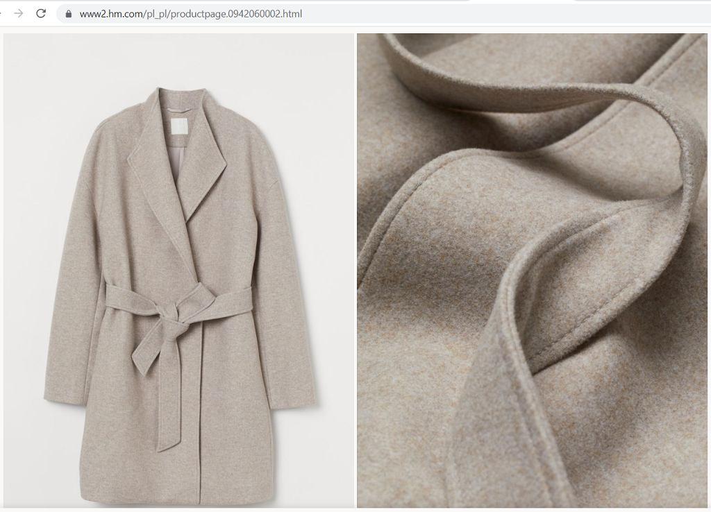 filcowany płaszcz