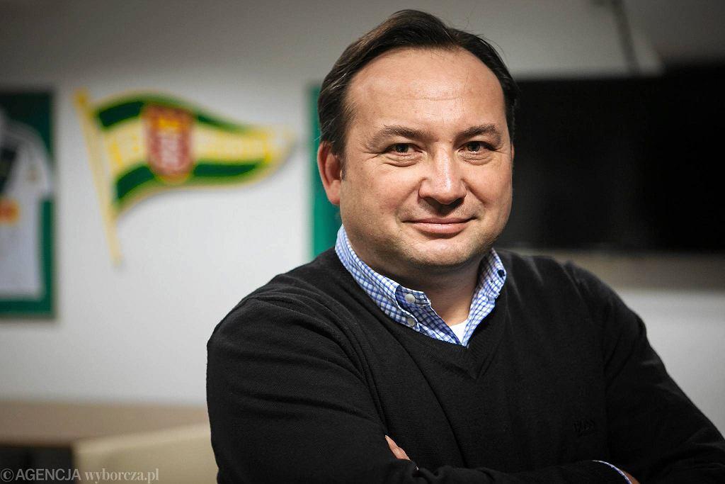 Prezes Lechii Gdańsk Adam Mandziara