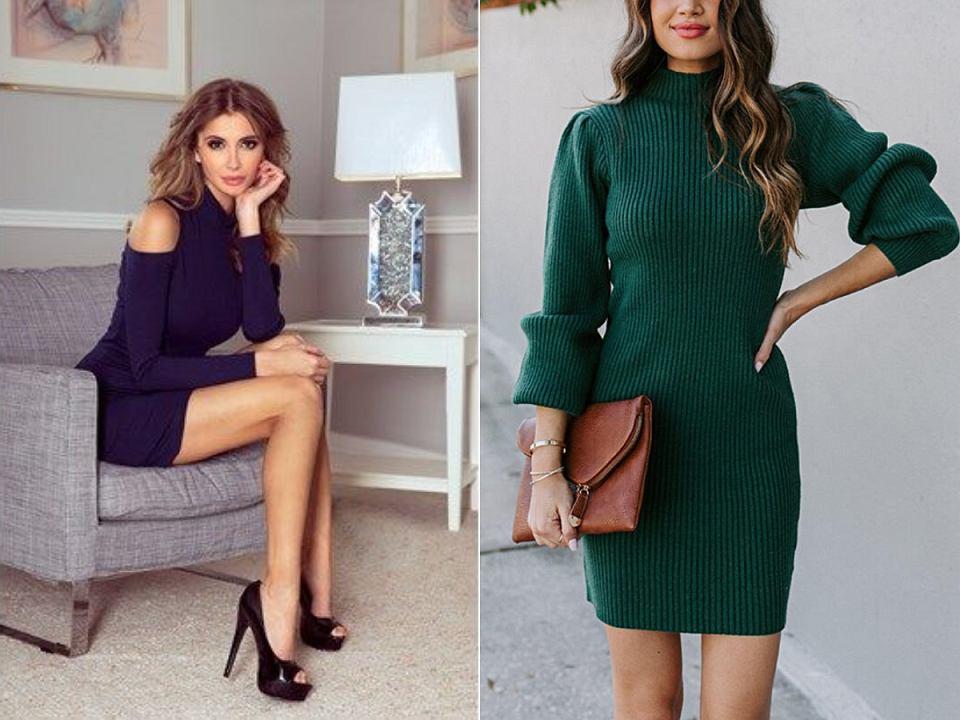 Eleganckie sukienki z golfem