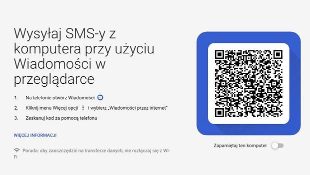 Wiadomości SMS z telefonu z Androidem na komputerze