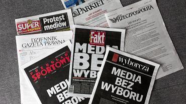 Protest mediów - media bez wyboru