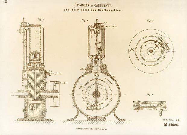 Fragment patentu Daimlera na silnik Maybacha