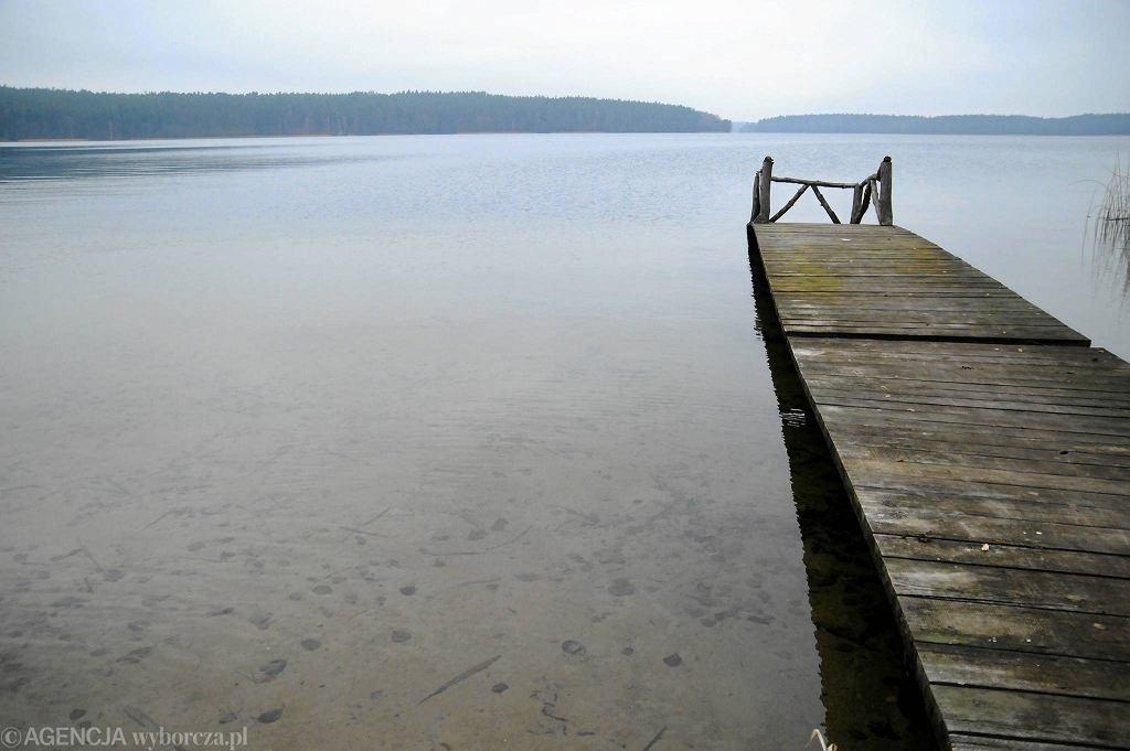 Półwysep Lalka nad Jeziorem Łańskim niedaleko Olsztyna