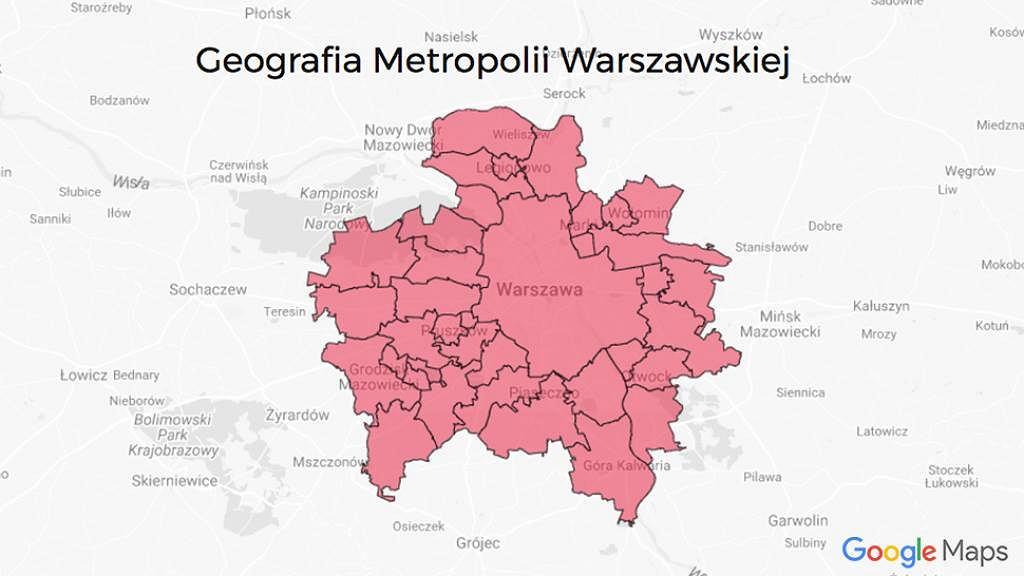 Nowa Warszawa powiększona o dwie gminy