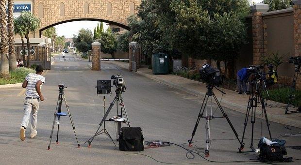 Dziennikarze przed sądem w PRetori, Oscar Pistorius