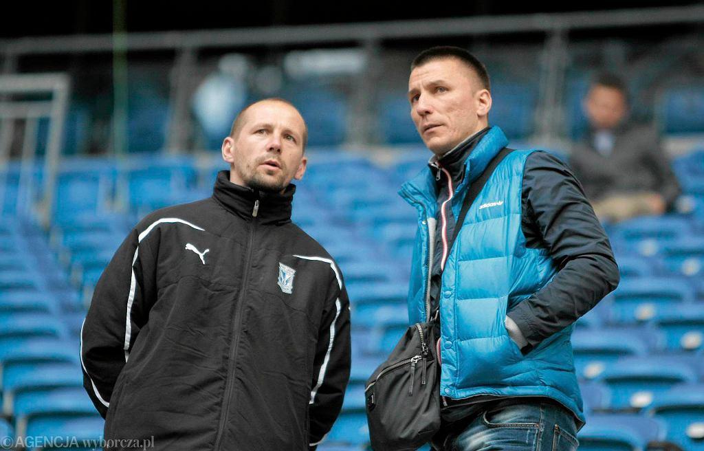 Ivan Djurdjević (z prawej) i analityk Lecha Poznań Marcin Wróbel