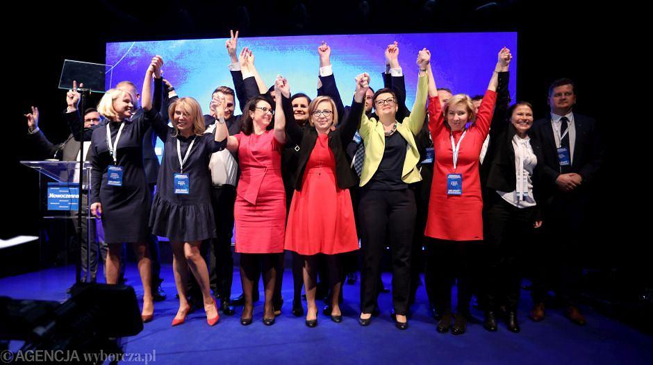 Nowa przewodnicząca Nowoczesnej Katarzyna Lubnauer podczas konwencji krajowej partii