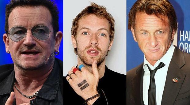 Wokalista U2 Bono, Chris Martin z Coldplay oraz znany aktor Sean Penn spotkali się w jednym ze znanych amerykańskich programów. Co wydarzyło się podczas odcinka z udziałem artystów?