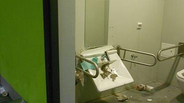Kibole Zagłębia zdewastowali toalety na stadionie