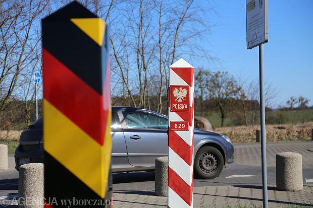 Przejście graniczne między Polską a Niemcami.