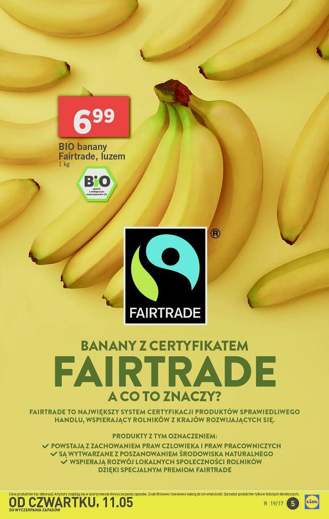 Światowy dzień sprawiedliwego handlu w Lidlu - Banany z certyfikatami Fairtrade
