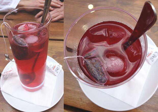 Napój o nazwie mrożona herbata w Bistro Kos przy ulicy Piwnej