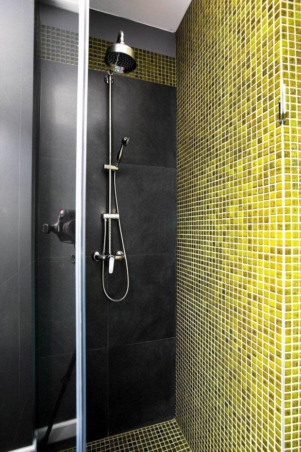 łazienka, ściany w łazience, mozaika, aranżacja łazienki