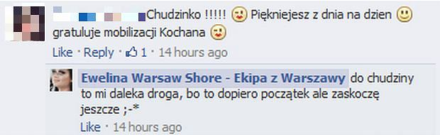 Komentarz Eweliny Warsaw Shore