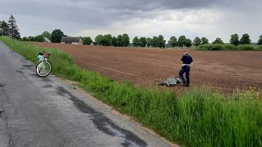 Policjant na rowerze dogonił pirata drogowego