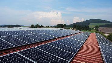 Zaćmienie Słońca. Spadek produkcji energii przez panele fotowoltaiczne (zdjęcie ilustracyjne)