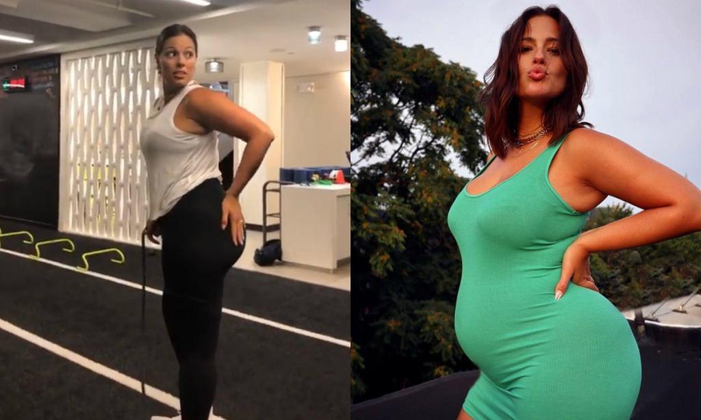 Ashley Graham trenuje w ciąży. Jakie ćwiczenia wykonuje modelka plus size?