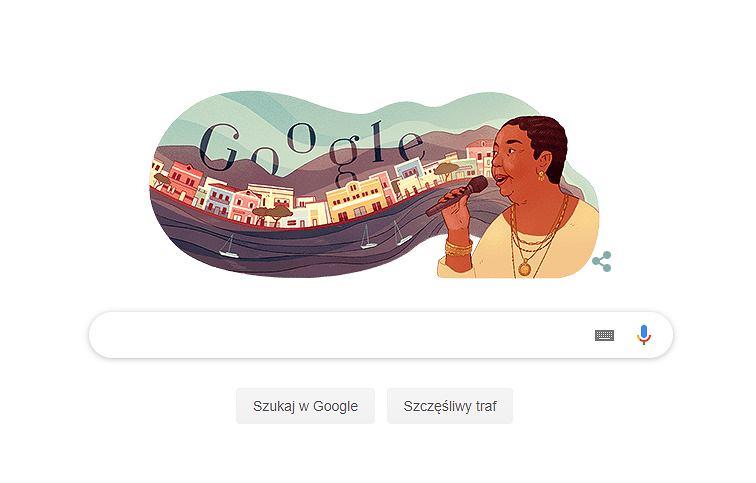 Cesária Évora upamiętniona przez Google Doodle