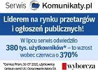 Komunikaty.pl liderem na rynku