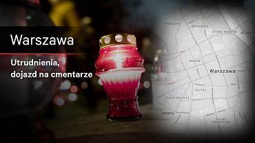 Warszawa - Wszystkich Świętych, utrudnienia, objazdy, komunikacja miejska