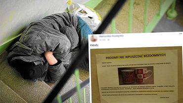 Bezdomny na klatce