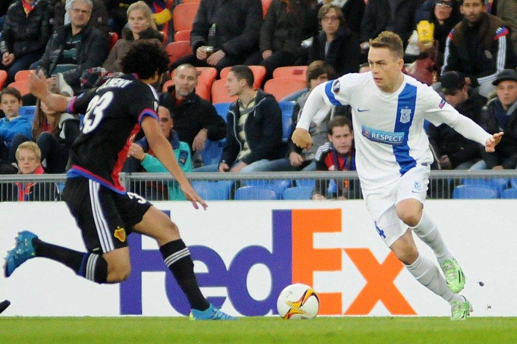 FC Basel - Lech Poznań 2:0. Maciej Gajos