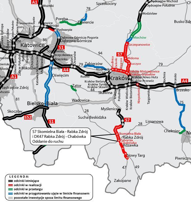 Trasa S7, Skomielna Biała - Rabka Zdrój