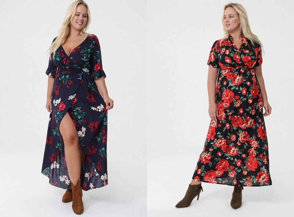 Jesienne sukienki w kwiaty