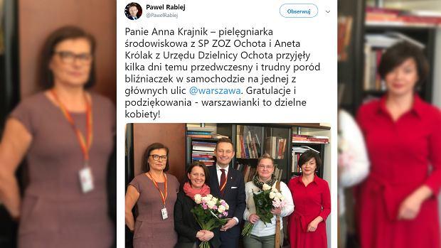"""W centrum Warszawy kobieta zaczęła rodzić bliźniaki. Pomogły urzędniczka i pielęgniarka. """"Bohaterki"""""""