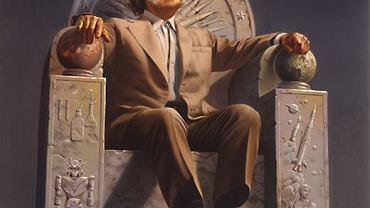 Portret Isaaca Asimova wykonany przez Rowenę Morrill