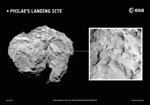 Tu wyląduje Philae