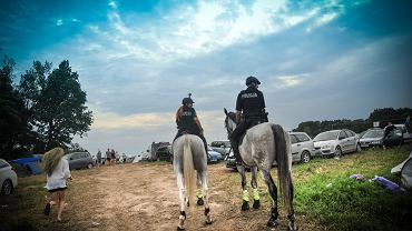 Konna policja na Woodstocku