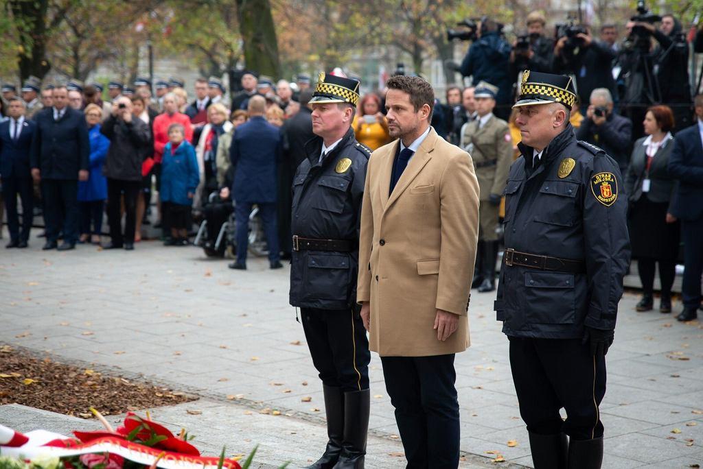 Uroczystość odsłonięcia pomnika Wojciecha Korfantego