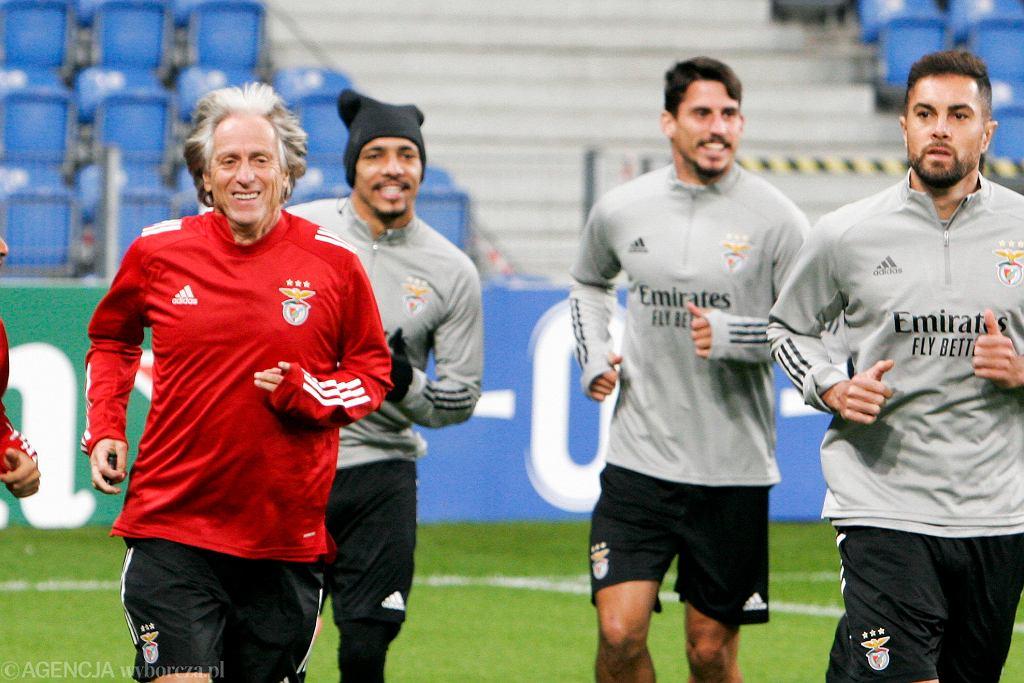 Trener Jorge Jesus i Benfica Lizbona w Poznaniu