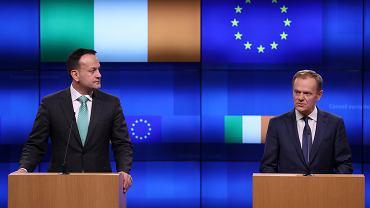 Premier Irlandii Leo Varadkar i Przewodniczący Rady Europejskiej Donald Tusk